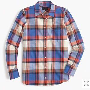 Jcrew boy shirt in blue pacey plaid